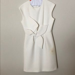 Ted Baker structured white dress